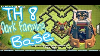 Clash Of Clans   TH8 Best Dark Elixier Base (Updated With Bomb Tower) Protect Dark   Clash Of Clans