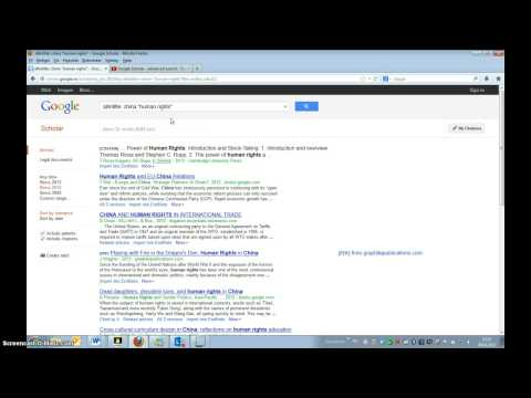 Google Scholar - Advanced search