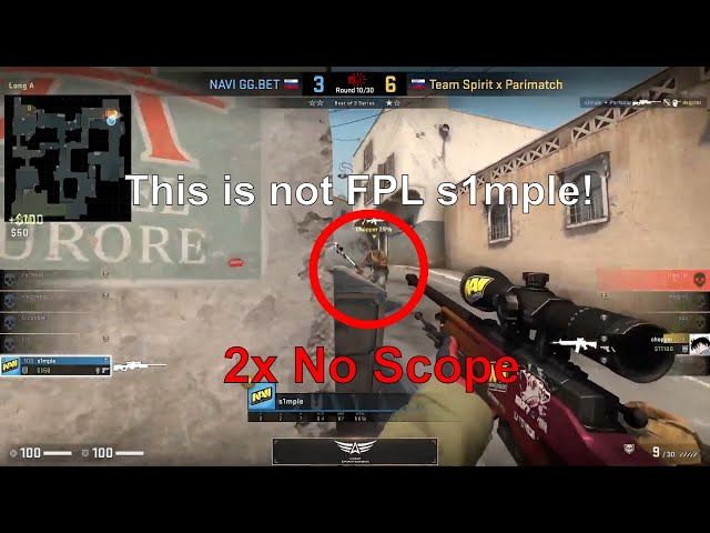 This is not FPL s1mple! - 2x Noscope AGAIN - Dust2 - Na`Vi vs Spirit - EPIC League CIS RMR 2021