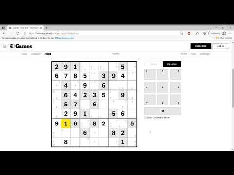 Hard Sudoku New York Times April 18