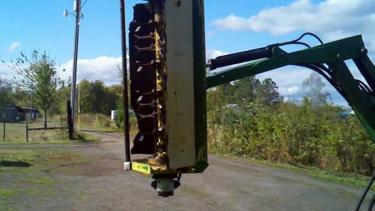 John Deere Model 90 Boom Mower On A New Holland Tc 30