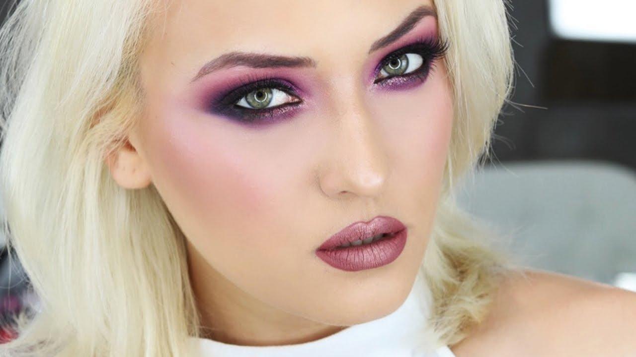 Purple Drama Machiaj Puternic In Nuante De Roz Si Mov Youtube