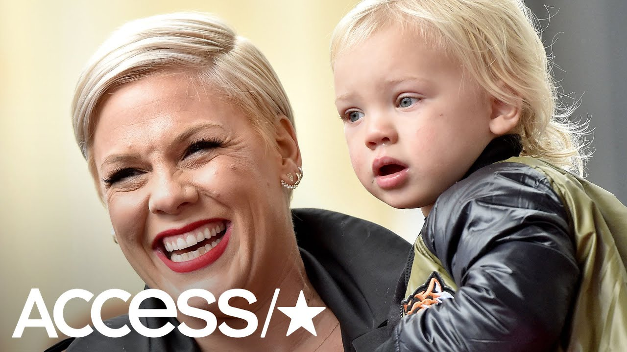 Pink's 2-Year-Old Son Welcomes Her Home With Flowers And A Hug In Heartwarming Video