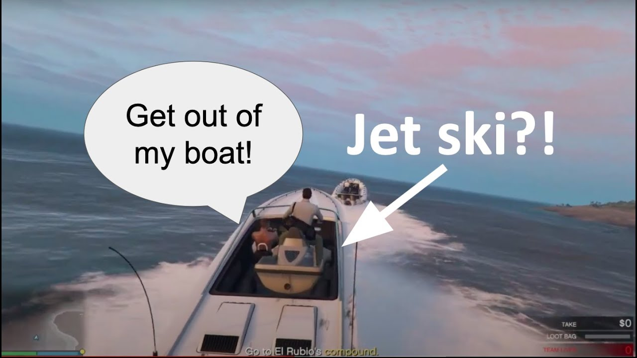 How to get free ride from Cayo boats on jet ski! GTA Online