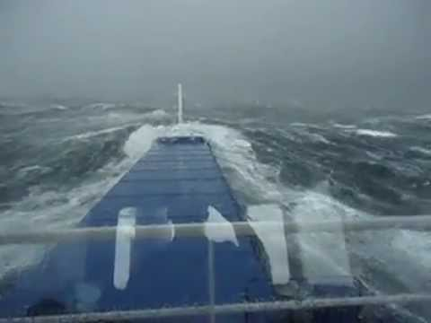 Bangladesh Made Ship Struggling In 7 Sea Storm Youtube