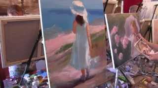 Научиться рисовать детей, живопись для начинающих, художник Сахаро