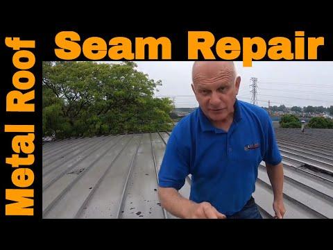 Anyone can Repair a Metal Roof Seam leak in 3 minutes DIY Turbo Poly Seal