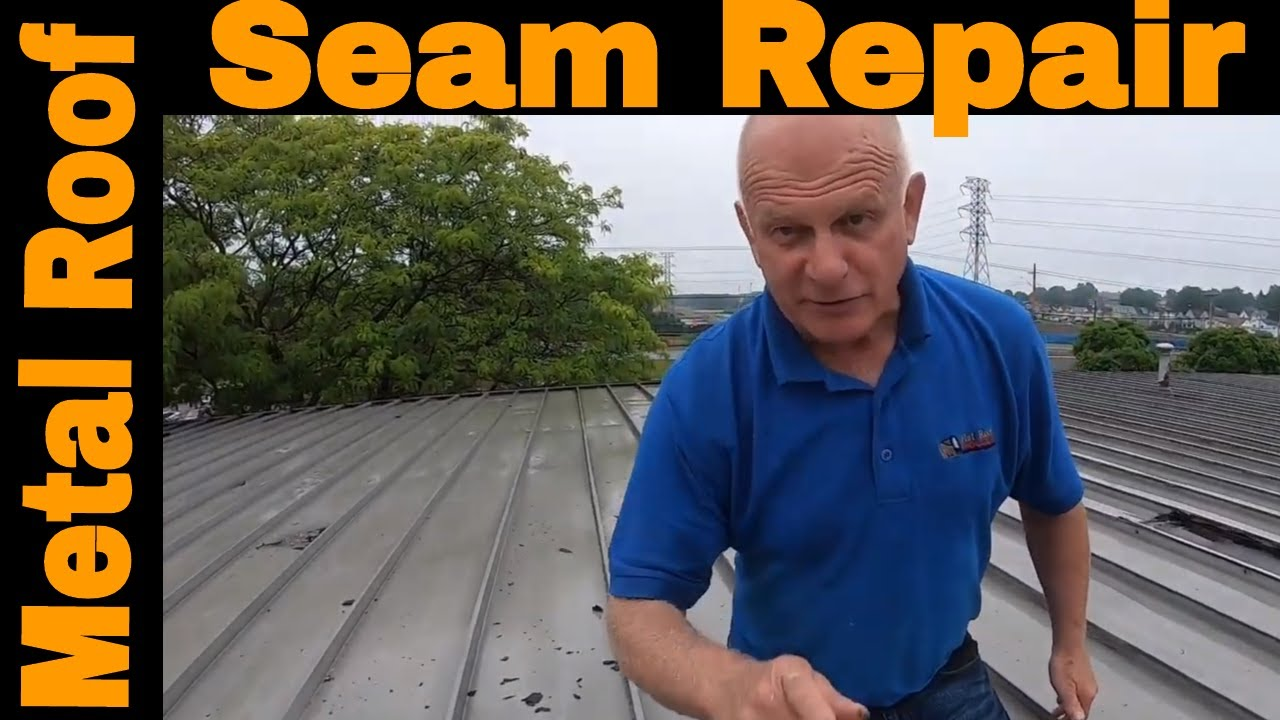 Anyone Can Repair A Metal Roof Seam Leak In 3 Minutes Diy Turbo Poly Seal Youtube
