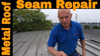 Anyone can Repair a Metal Roof Seam leak in 3 minutes DIY Turbo Poly Seal