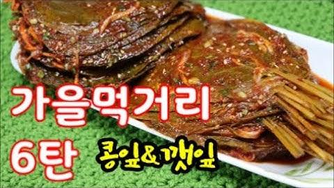 가을 먹거리 영양가득 삭힌 콩잎과 깻잎 김치 만들기 영상 입니다