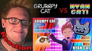 Grumpy Cat vs. Nyan Cat (60fps) - ANIMEME RAP BATTLES REACTION! | EPIC CAT FIGHT!!! |