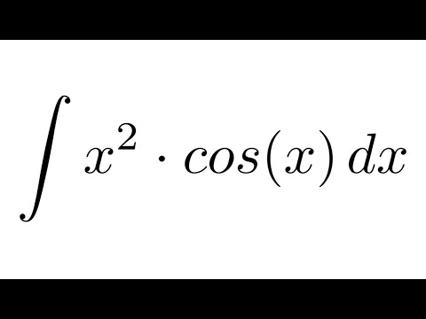 Integral of (x^2)*cos(x) (by parts)