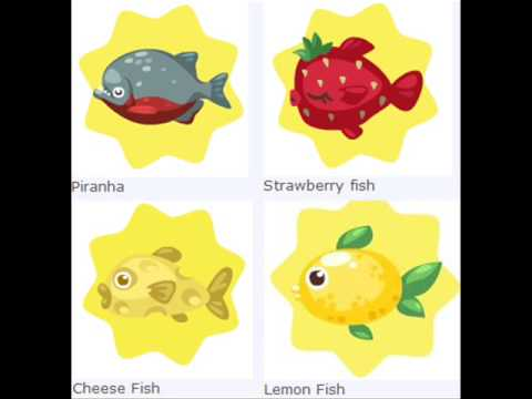 Pet Society List Of Fish + Baits 19 September 2009