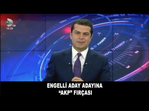 """ENGELLİ ADAY ADAYINA """"AKP"""" FIRÇASI"""