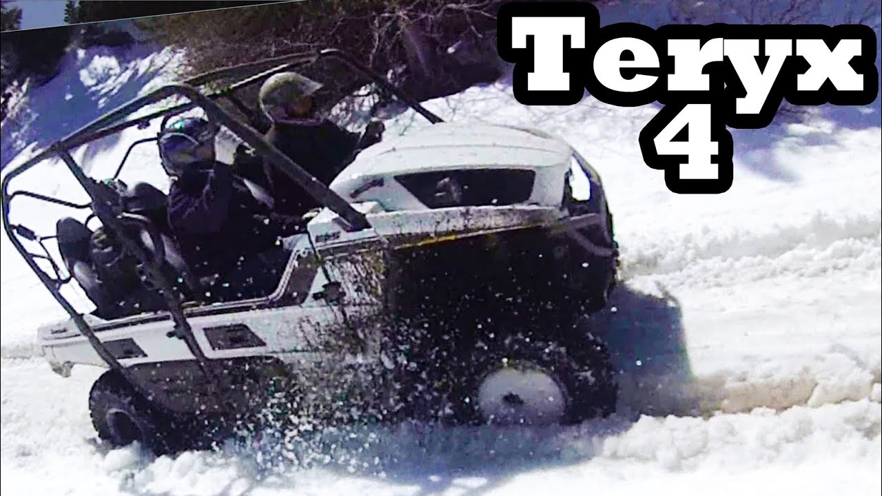 Side By Side Teryx 4 Snow Stuck 4x4 Youtube