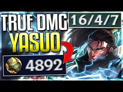 WTF?! NEW RUNE GIVES YASUO 5,000 TRUE DMG! NEW CONQUEROR KEYSTONE GAMEPLAY! - League of Legends