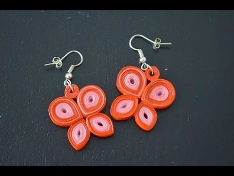 Quilling Earring Designs Butterfly : Quilling butterfly earrings - YouTube
