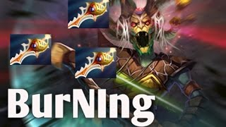 burning medusa jungle 3 rapier boss dota 2 gameplay mmr with team ig chuan faith luo