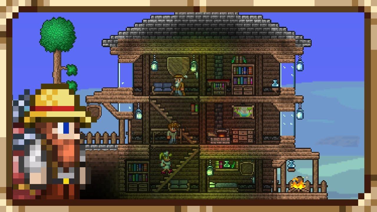 Прикольные большие картинки домов в террарии, открытки