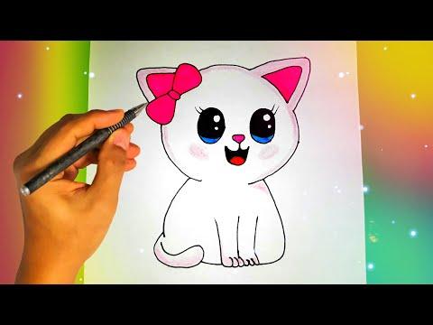 Как нарисовать КОШКУ? Лёгкие рисунки для срисовки