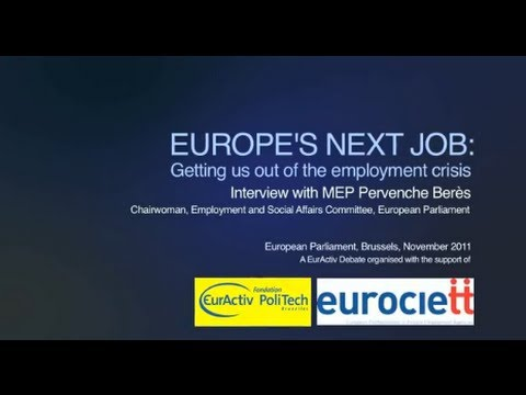 Interview with MEP Pervenche Beres at the EurActiv Debate on employment