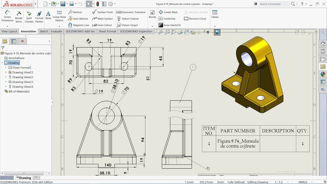 solidworks tutorial basics of drawing youtube rh youtube com SolidWorks Drawings.pdf SolidWorks Drawing Templates