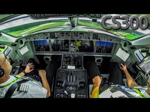 Piloting the C-SERIES CS300 out of Riga