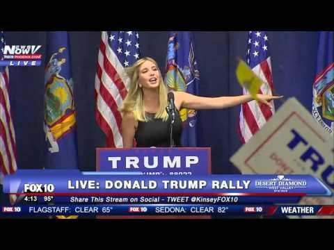 Ivanka Trump Speaks at Donald Trump Rally in NY - FULL Rally - FNN