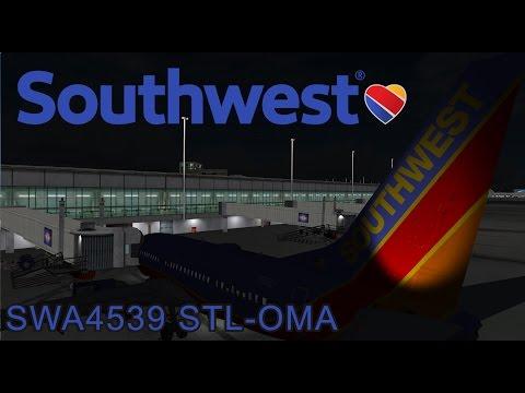 Prepar3d Live! Southwest Airlines 4539 St. Louis - Omaha