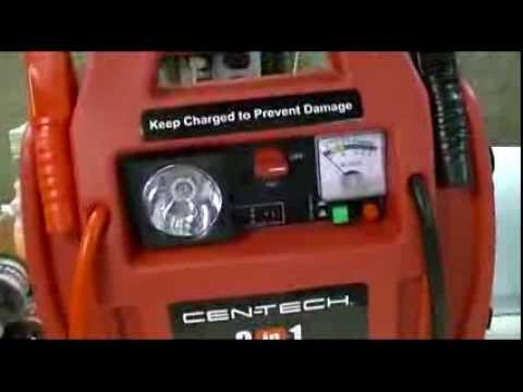 Harbor Freight  CenTech 3In1 Portable Power Pack With