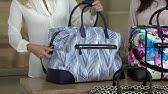 Vera Bradley Luggage Iconic Large Travel Duffel SKU  9001083 - YouTube 37a8dc6448060