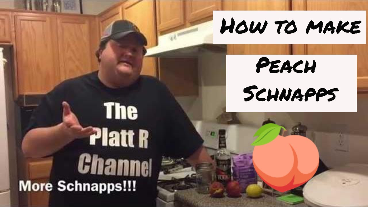 How to make Peach Schnapps - YouTube