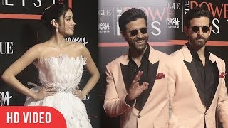 Handsome Hrithik Roshan And Beautiful Janhvi Kapoor at Nykaa Fashion and Vogue India THE Power-List