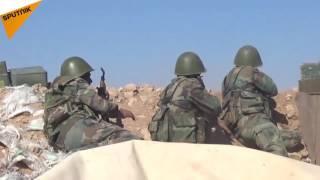 """بالفيديو... الجيش السوري يكبد """"داعش"""" خسائر كبيرة شرق السلمية"""
