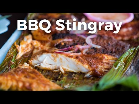 Best Singapore Food - BBQ Sambal Stingray at Chomp Chomp Foo