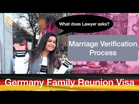 Marriage Verification For Family Reunion Visa Germany | My Experience Spouse Visa in Hindi