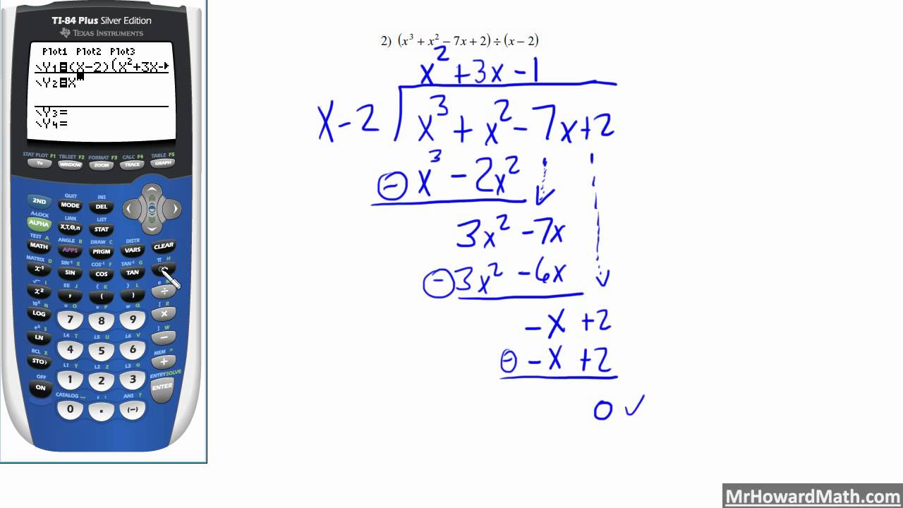 Long Division Of Polynomials Youtube