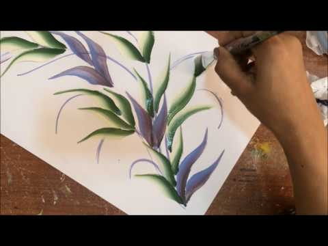 One Stroke Painting Tutorial- Tips For Beginners + Sliding  Leaf Stroke Composition