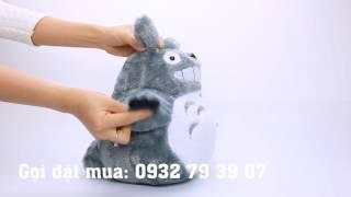 Gấu bông Totoro đội lá