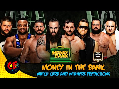 WWE Money In The Bank 2018 Match Card And Winner Predictions..