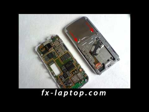 Disassembly Nokia 7610 Supernova - Battery Glass Screen Replacement