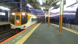 近鉄12410系12413編成特急大阪上本町行き到着