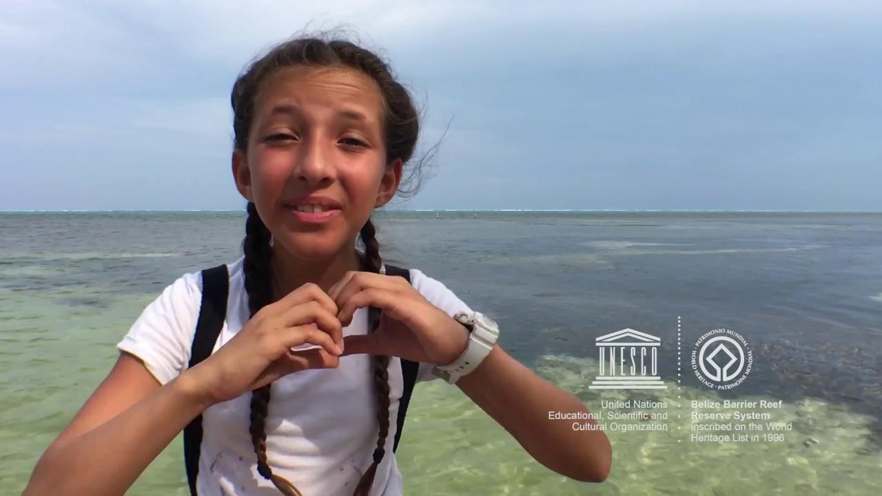 Madison #MyOceanPledge Belize Barrier Reef System World Heritage marine site