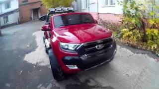видео: Детский полноприводный электромобиль Ford Ranger 4x4