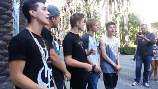 The Boy Band Project sings Mirrors by Justin Timberlake at Vidcon 2013