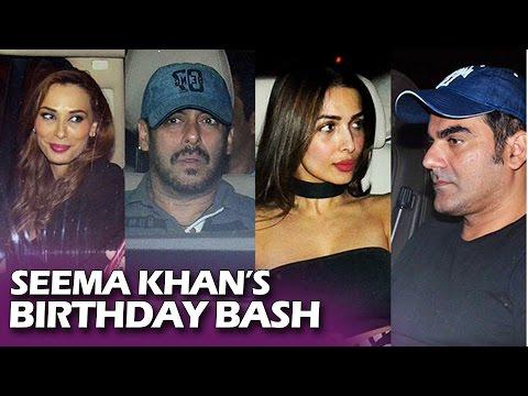 Seema Khan's Birthday Bash | Salman Khan, Karisma Kapoor, Arbaaz Khan, Sonakshi, Karan Johar, Iulia