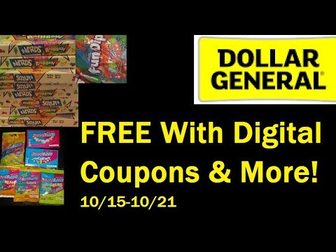 Dollar General Digital Coupon Deals   Free Sweet Tarts!