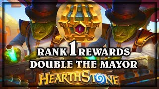 March Rank 1 Rewards & Double the Mayor ~ Kobolds & Catacombs Hearthstone