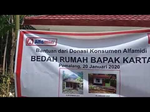 Alfamidi Salurkan Donasi Konsumen Alfamidi Dalam Bentuk Bedah Rumah