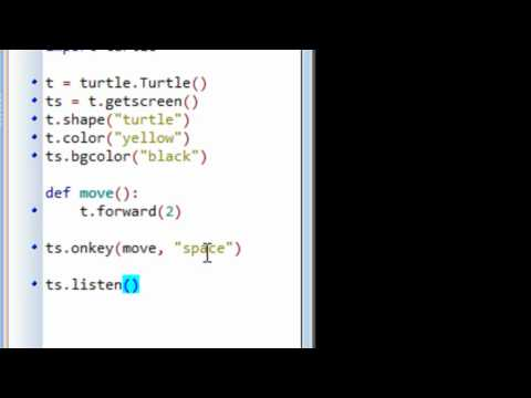 Python Programming: Event Driven Programming